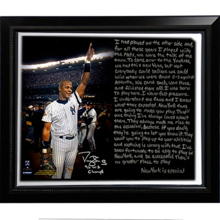 Darryl Strawberry Facsimile '1996 World Series' Story Stretched Framed 22x26 Story Canvas
