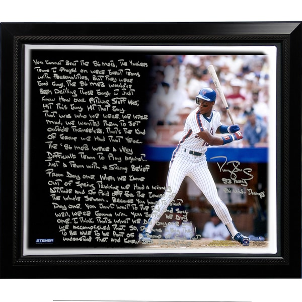 Darryl Strawberry Facsimile '1986 Mets' Story Stretched Framed 22x26 Story Canvas