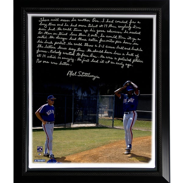 Mel Stottlemyre Facsimile ' Coaching Doc' Story Stretched Framed 22x26 Story Canvas