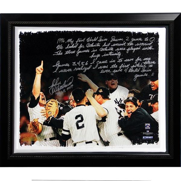 John Wetteland Facsimile '1996 World Series' Story Stretched Framed 22x26 Story Canvas