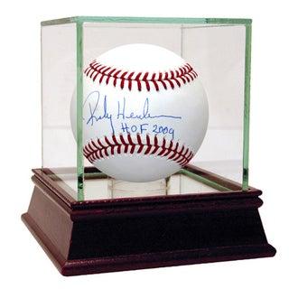 Rickey Henderson MLB Baseball w/ HOF Insc