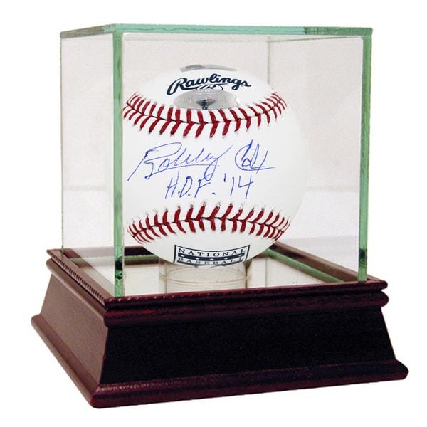 """Bobby Cox Signed HOF Logo Baseball w/ """"HOF 14"""" insc (MLB Auth)"""