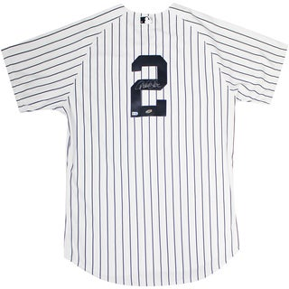 Derek Jeter Authentic Yankees Pinstripe Jersey (Signed on Back) (MLB Auth)