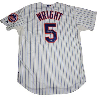 David Wright New York Mets Authentic Home Pinstripe Jersey (MLB Auth)