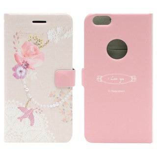 HAPPYMORI Bird Charm Faux Leather Phone Case for Apple iPhone 6