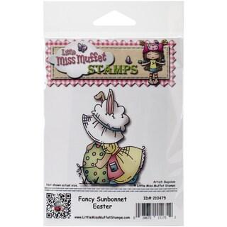 """Little Miss Muffet Cling Stamp 3.25""""X2.5""""-Fancy Sunbonnet Easter"""