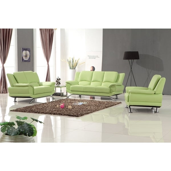Shop Milano Leather Sofa Set Free Shipping Today