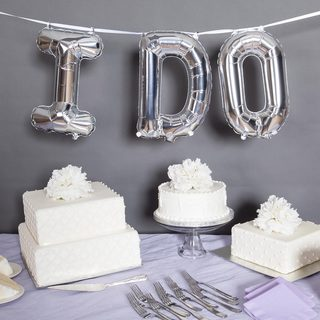"16"" I Do Balloon Kit, Silver"