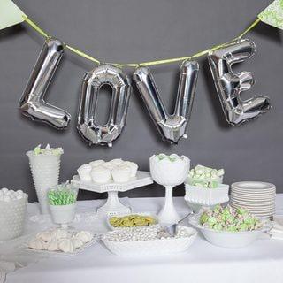 """16"""" Love Balloon Kit, Silver"""