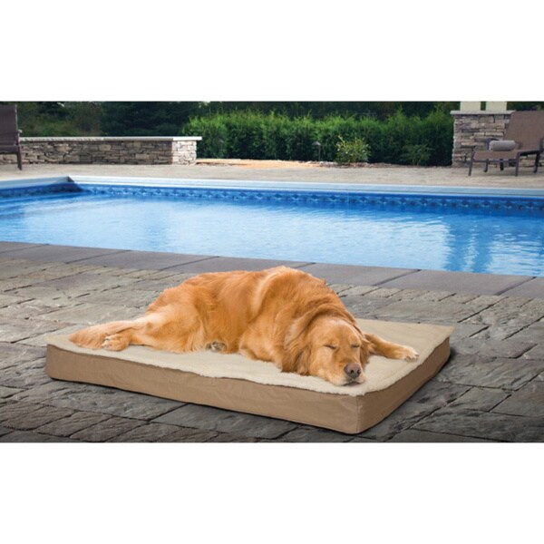 Shop Furhaven Deluxe Outdoor Convertible Orthopedic Pet Bed With