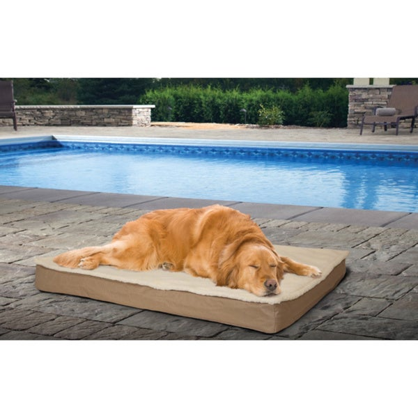 Furhaven Deluxe Indoor/ Outdoor Orthopedic Pet Bed with Removable ...