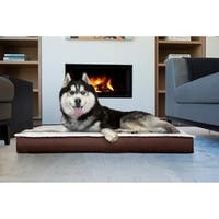 FurHaven Deluxe Outdoor Convertible Orthopedic Pet Bed with Removable Cover
