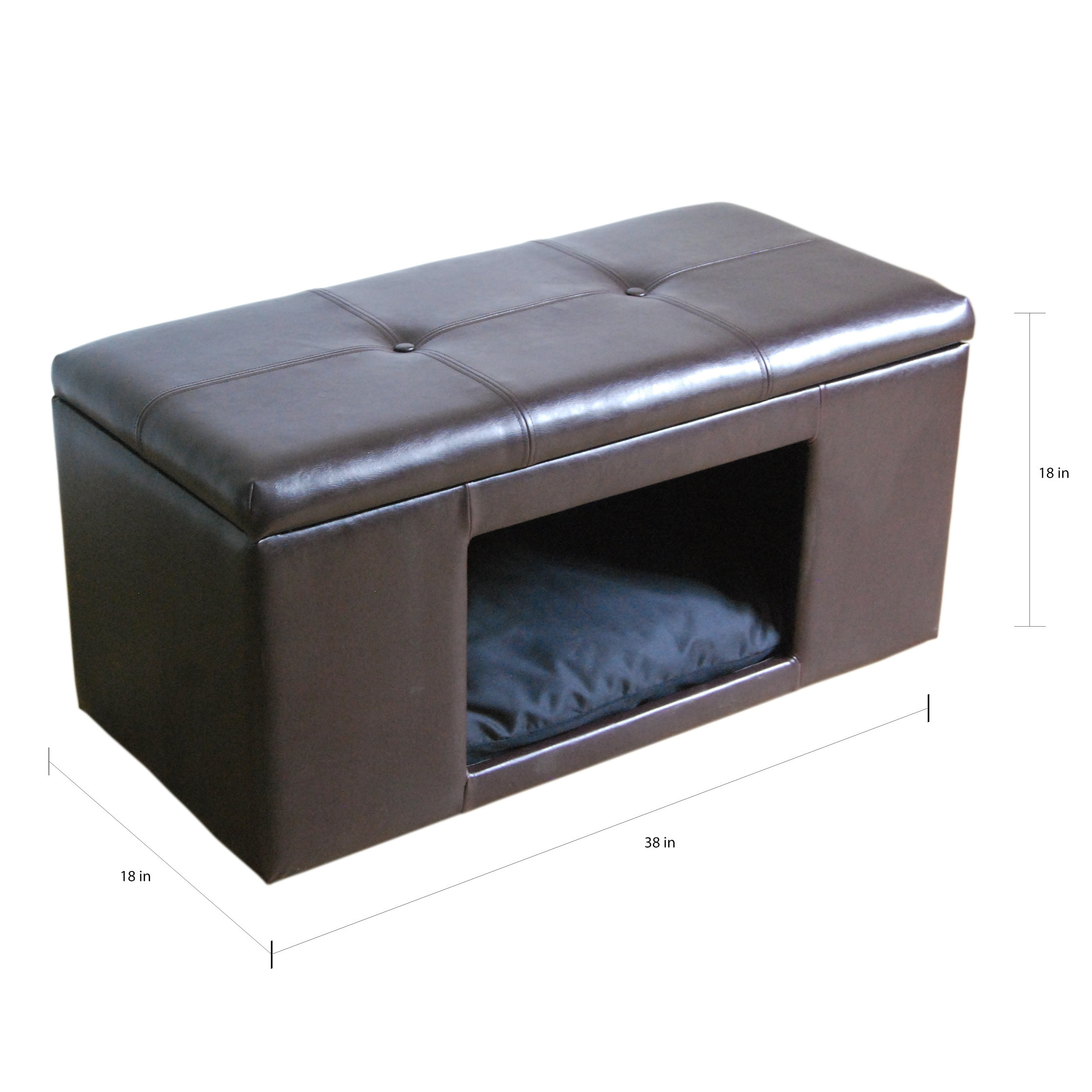 Picture of: Homepop Pet Bed Bench On Sale Overstock 10035296