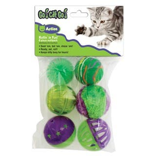 Our Pet Go! Cat Go! Rollin' in Fun Balls (6pack)|https://ak1.ostkcdn.com/images/products/10035313/P17180892.jpg?impolicy=medium