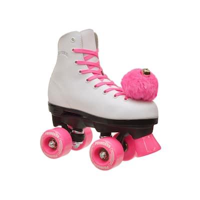 Epic Pink Princess Quad Roller Skates