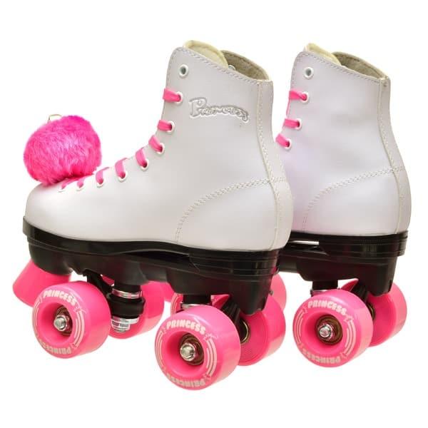 Epic Skates Pink Princess Girls Quad Roller Skates