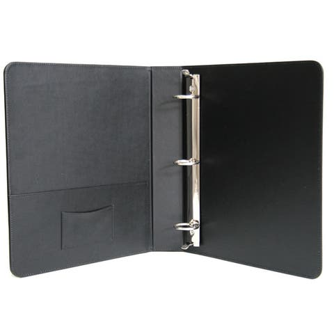Royce Leather 1.5 Inch Ring Binder in Genuine Leather