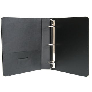 Royce Leather 1.5 Inch Ring Binder in Genuine Leather (Option: Black)