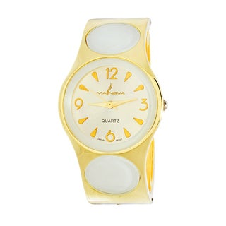 Xtreme Via Nova Women's Goldtone White Dial Bangle Watch