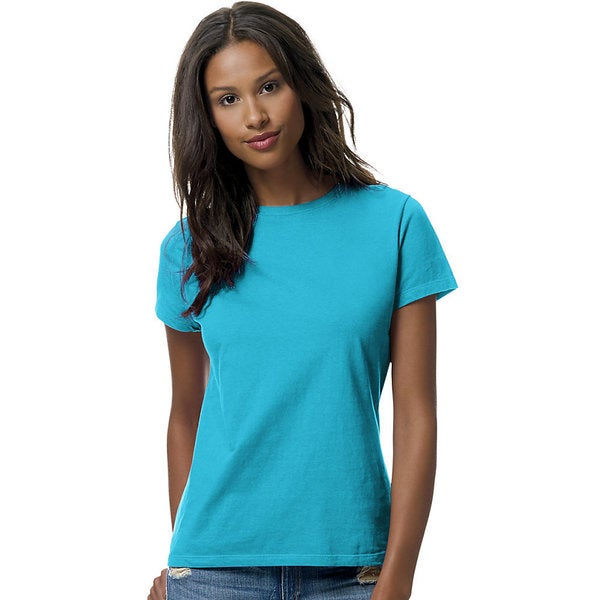 7ed152d58 Shop Hanes womens 100% Ringspun Cotton nano-T® T-Shirt (SL04) - Free ...