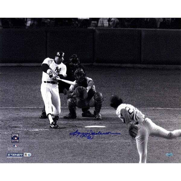 Reggie Jackson Signed 1977 WS Home Run Off Sosa 16x20 Photo (MLB Auth)