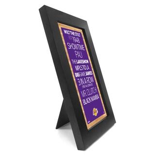 Los Angeles Lakers Desktop/Wall Hangable Subway Sign 4x8 Framed Photo