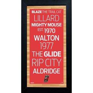Portland Trailblazers Subway Sign 6x12 Framed Photo