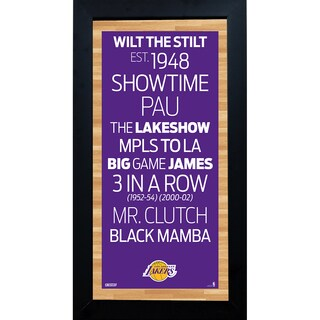 Los Angeles Lakers Subway Sign 6x12 Framed Photo