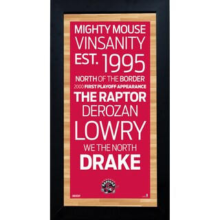 Toronto Raptors Subway Sign 6x12 Framed Photo