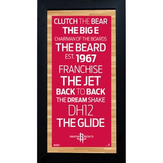 Houston Rockets Subway Sign 6x12 Framed
