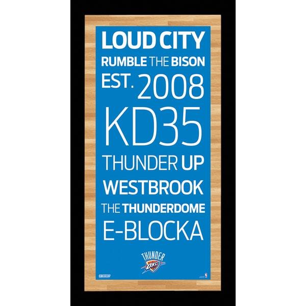Oklahoma City Thunder Subway Sign Wall Art 9.5x19 Photo