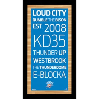 Oklahoma City Thunder Subway Sign Wall Art 9.5x19 Photo