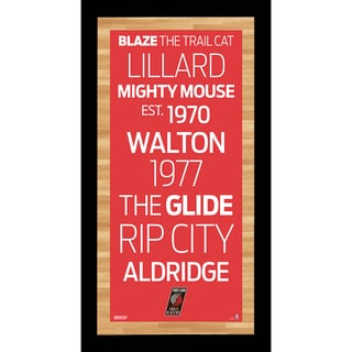 Portland Trail Blazers Subway Sign Wall Art 9.5x19 Photo