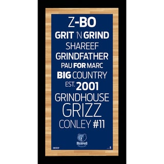 Memphis Grizzlies Subway Sign Wall Art 9.5x19 Photo