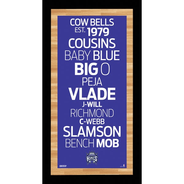 Sacramento Kings Subway Sign Wall Art 9.5x19 Photo