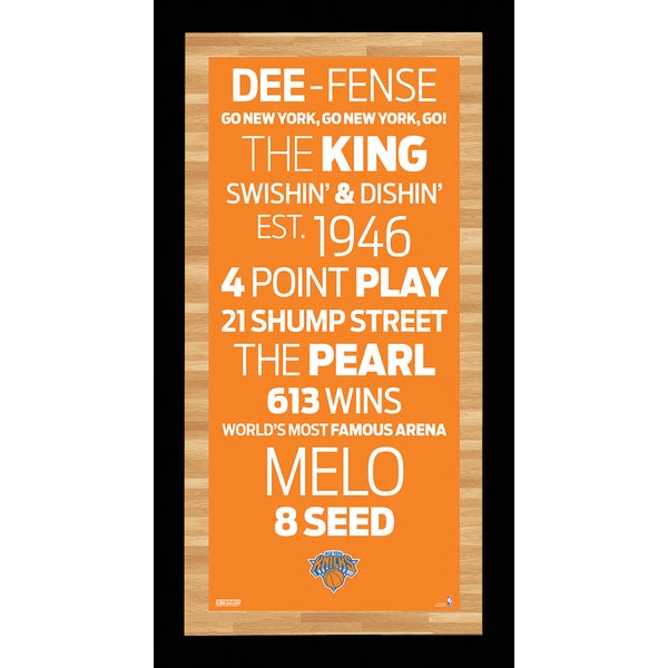 New York Knicks Subway Sign Framed Wall Art 9.5x19 Photo