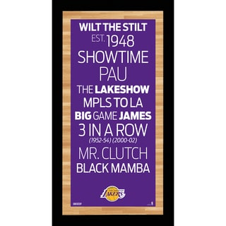 Los Angeles Lakers Subway Sign Wall Art 9.5x19 Photo