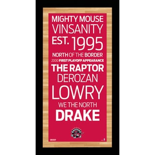 Toronto Raptors Subway Sign Wall Art 9.5x19 Photo