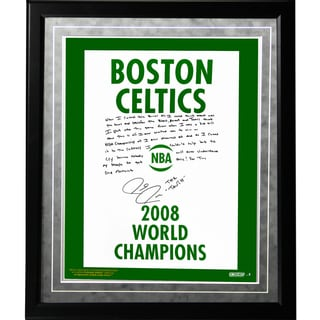Paul Pierce Facsimile '2008 Champions Banner' Framed Metallic 16x20 Story Photo