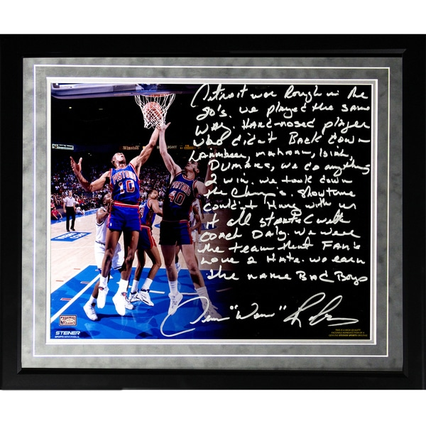 Dennis Rodman Facsimile 'The Bad Boys' Framed Metallic 16x20 Story Photo