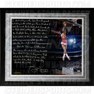 Spud Webb Facsimile ' Slam Dunk Contest' Framed Metallic 16x20 Story Photo