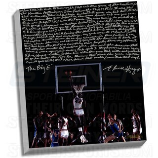 Elvin Hayes Facsimile ' Being Big E' Stretched 22x26 Story Canvas