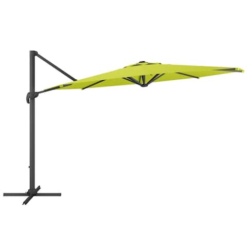 CorLiving 11.5ft UV Resistant Deluxe Offset Patio Umbrella