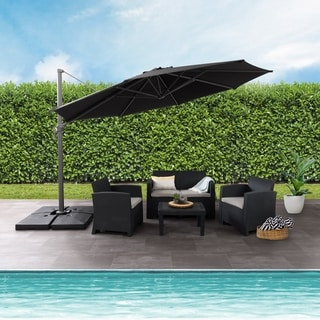 Awesome CorLiving Deluxe Offset Patio Umbrella