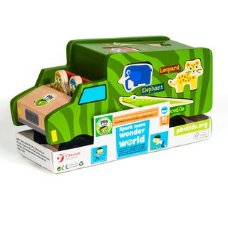 PBS Kids Wooden Toy Safari Shape Sorter
