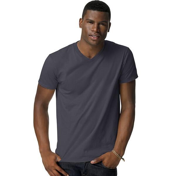 Hanes Mens Nano-T V-Neck T-Shirt