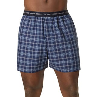 Hanes Big Man's Yarn-Dyed Plaid Boxer (Pack of 5)