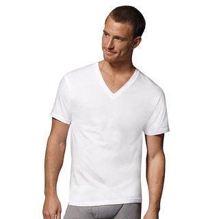 Hanes Men's Tagless V-Neck Undershirt (Pack of 6)