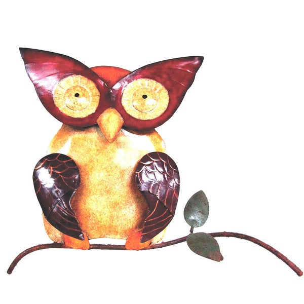 D-Art Collection Iron Owl Wall Decor