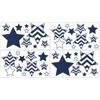 Sweet Jojo Designs Navy and White Chevron Wall Decal Stickers